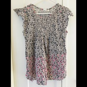 GAP Maternity Floral Multi-colored Cotton Top XS